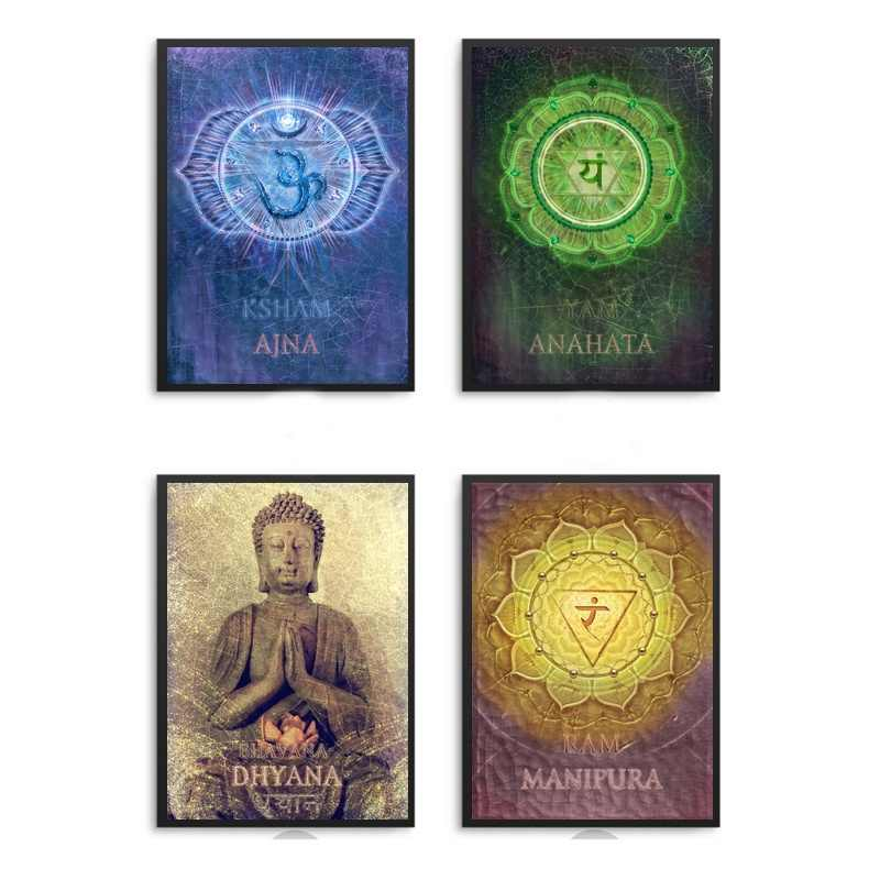 KARMA Chakra Canvas Fabric Poster And Print Wall Art Picture Painting Home Decor
