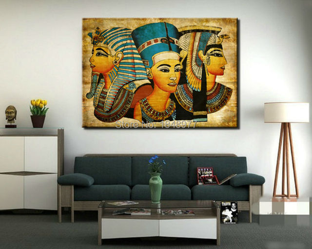 Buy Large Wall Art Canvas Pharaoh Of Egyptian Home Decoration Paintings Modern