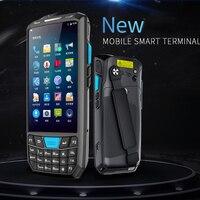 КПК Android сканера штриховых кодов Беспроводной мобильный телефон ручной терминала данных Wi Fi считывания штрих кода 1D лазерной 2D QR scannner Wi Fi ВП