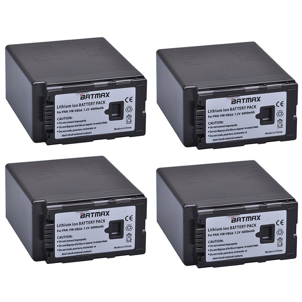 4Pcs 6000mAh VW-VBG6 VWVBG6 VBG6 VW-VBG6GK Batteries Bateria for Panasonic AG-AC130 , AG-AC160 , AG-AF100 , AG-AF100A , AG-HMC70 panasonic ag 3da1 page 9