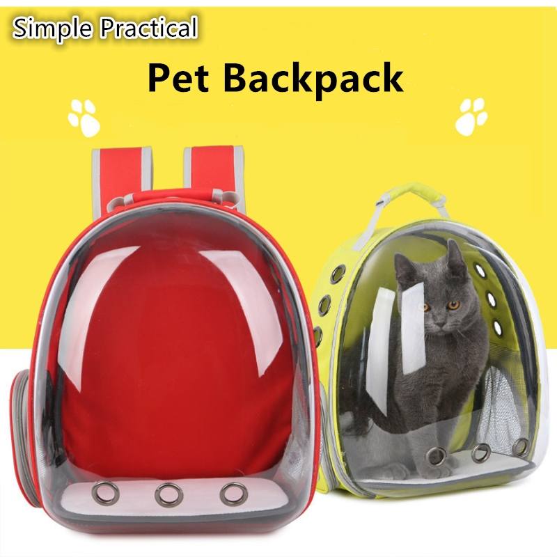 Nice Pvc Transparent Pet Bag Hot Sale Backpack For Small Dogs Cats Backpackers Favorite Cat Knapsack Walk Out Used Dog Rucksack