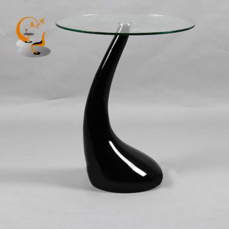 Small Tempered Glass Coffee Table: Tempered Glass Coffee Table Minimalist Small Apartment