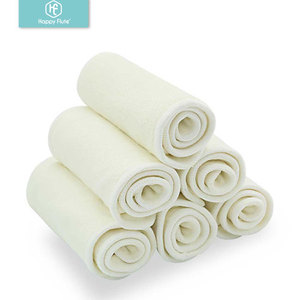 Image 1 - Happy Flute 5/10 pcs 4 layers bamboo Liner Insert For Baby Cloth Diaper Nappy Natural Bamboo Washable