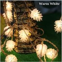 220V 10M 50 LED High Quality Pine Cones Shape String Light Festival Fairy Light For Christmas