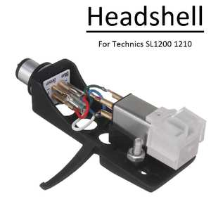 Turntable Cartridge-Unit Technics Audio-Phono Headshell Universal with 4-Lead-Wires