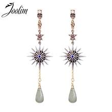 Joolim Vintage Starburst Natural Stone Drop Earring Fashion Wholesale