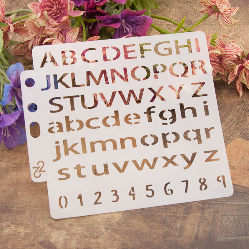 Letters Numbers Sticker Painting Stencils for Diy Scrapbooking Stamps Home Decor Paper Card Template Decoration Album Crafts Art in Stamps from Home Garden