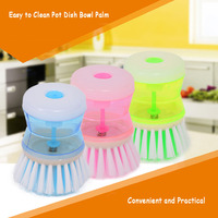 New colorful hydraulic pressure washing brush Kitchen Pot Pan Dish Bowl Palm Wash Tool Brush Scrubber Cleaning Cleaner