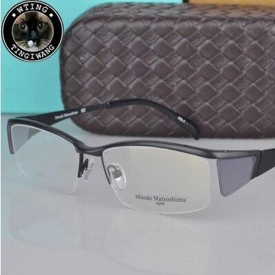 eyewear 2014 brand eyeglasses fashion myopia men/women vintage elegant glasses Half frame titanium eyeglass Masaki - A-Zed Luxury Eyeglasses store