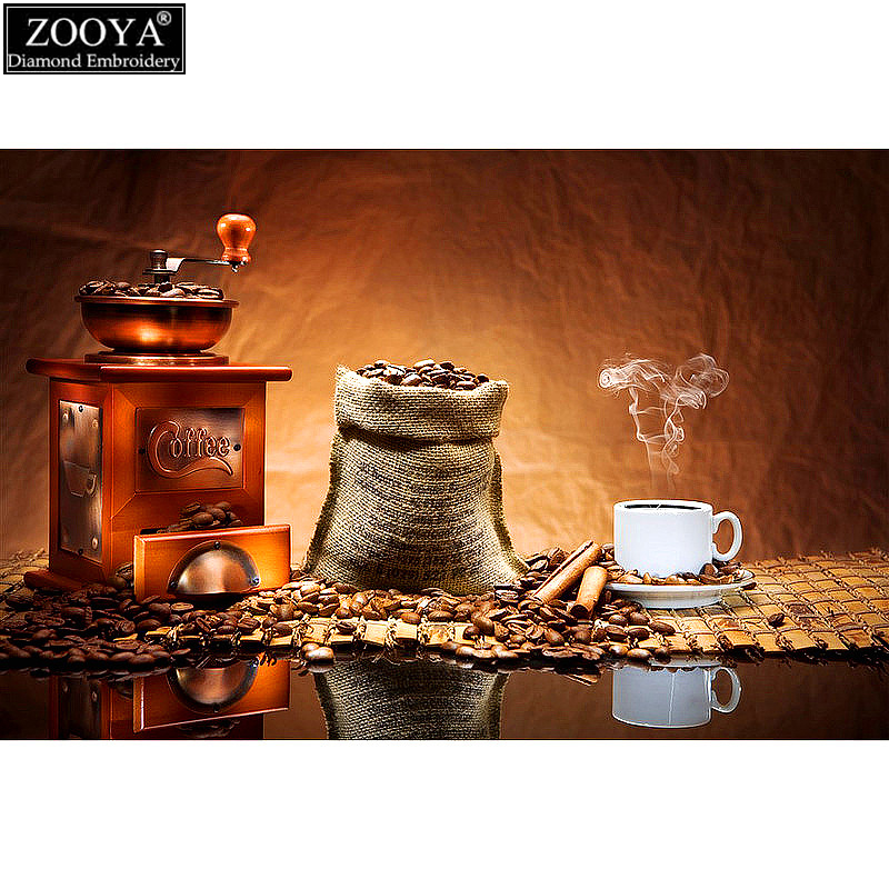 Zooya full drill diamond embroidery coffee cup pattern 5d for 5d cafe