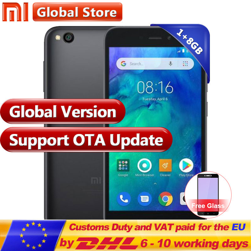 US $66 89 |Global Version Xiaomi Redmi Go 1GB RAM 8GB ROM Snapdragon 425  Mobile Phone Quad Core Phone 16:9 3000mAh 1280x720 HD Display-in Mobile