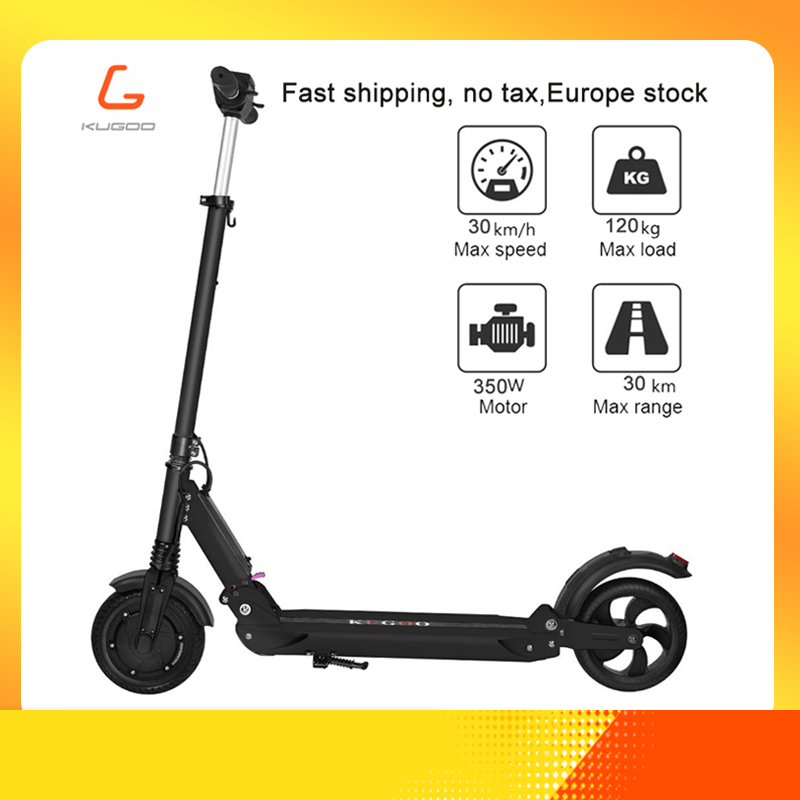 [Poland stock] KUGOO S1 Electric Scooter Adult Electric Scooter 350W Folding 3 Speed Modes 8 Inches IP54 30KM PK Xiaomi Mi M365