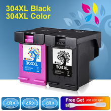 2pcs Ink Cartridge for HP 304XL HP304XL N9K08A N9K07A for HP Deskjet 3720 3721 3723 3724 3730 3732 3752 3755 3758