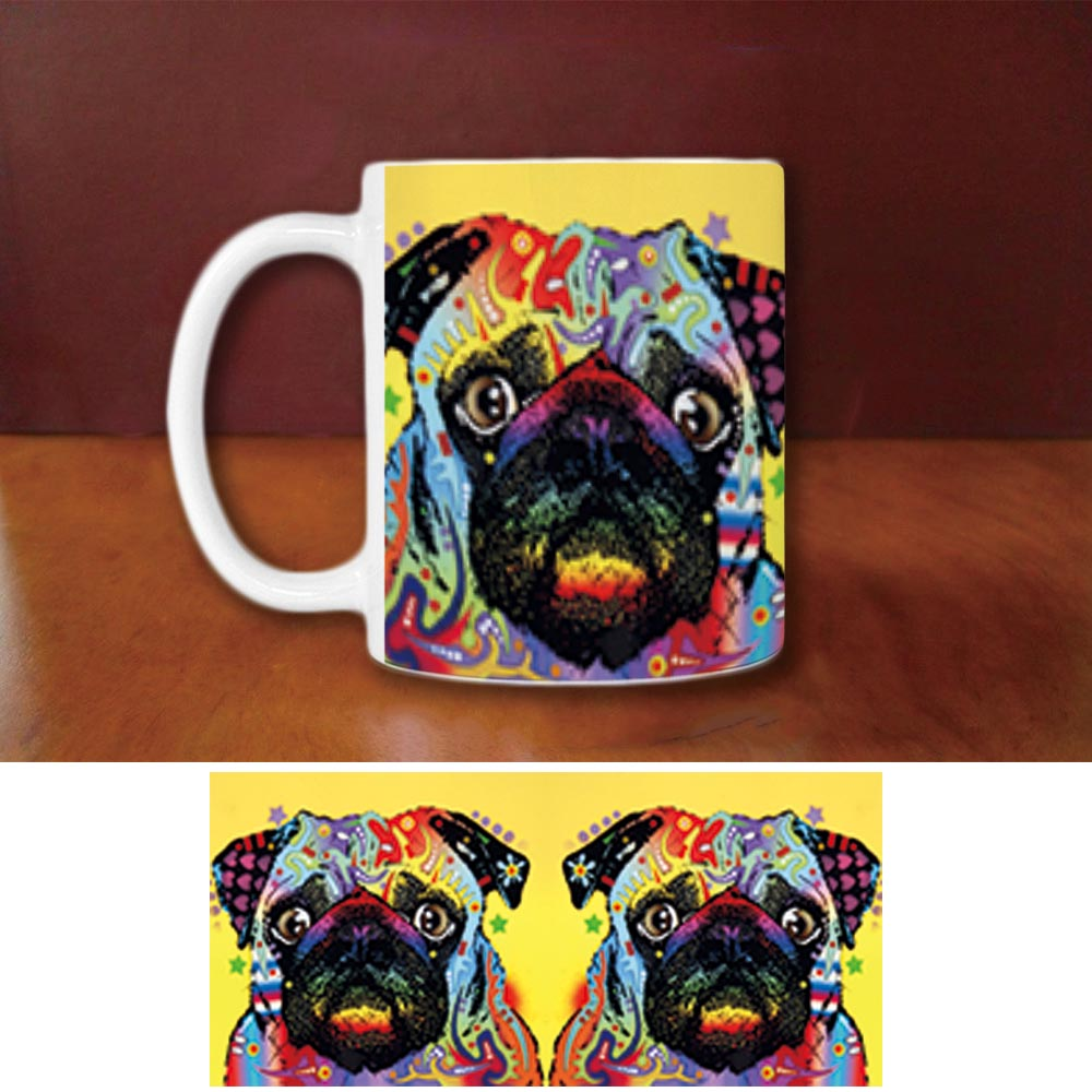 Fashion Jack Russell Terrier Coffee Mugs Funny Pug Dog
