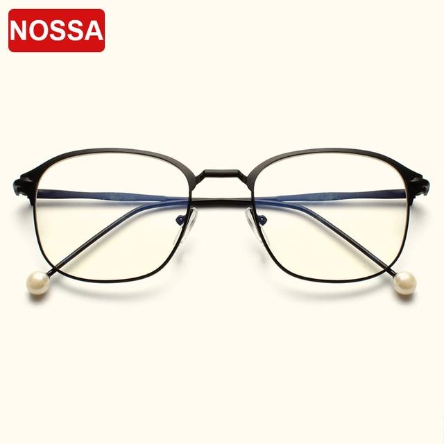 ea27ea2a5dc NOSSA Elegant Square Frame Eyeglasses Women Men Trendy Myopia Optical  Glasses Frame Casual Fashion Eyewear Brand