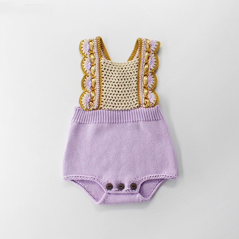 Newborn Baby Girl   Romper   100% Cotton Knitted Baby Clothes Handmade Infant Boys Girls Jumpsuit Overalls Toddler   Romper   For Kids