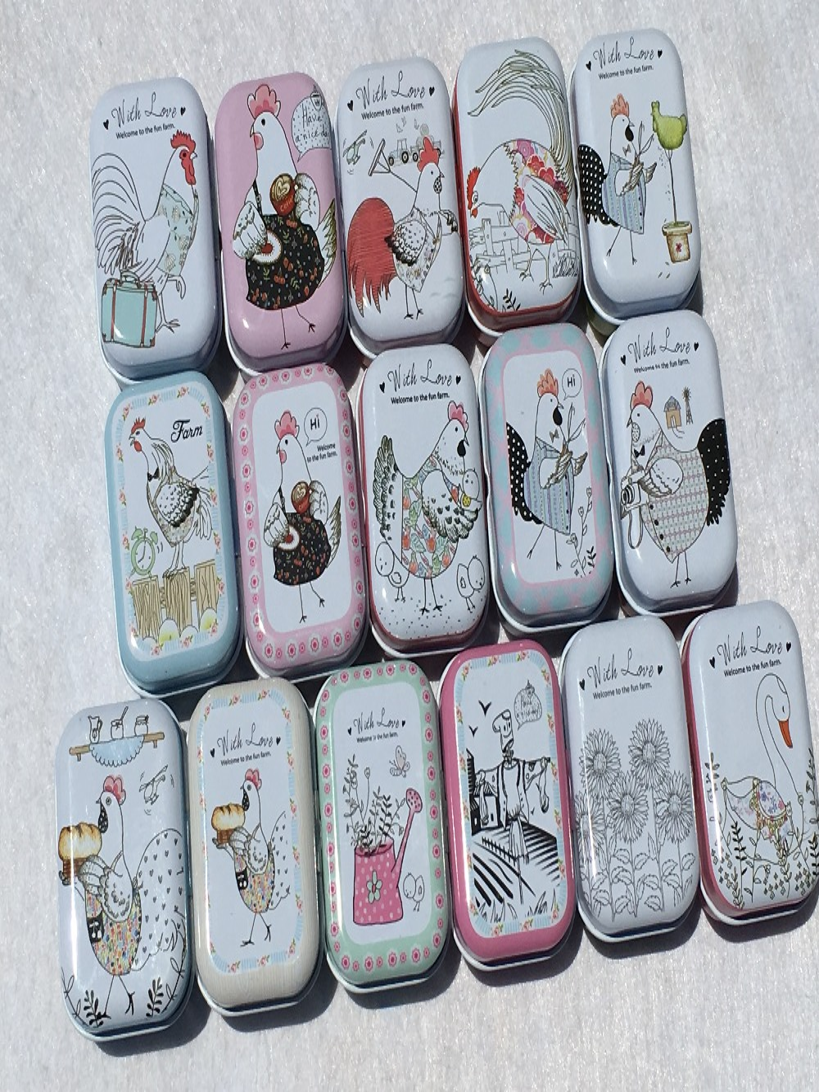 Colorido mini tin box jar Selado caixas de embalagem de jóias, caixas de latas de doces caixa de armazenamento pequena Moeda brincos, fones de ouvido caixa de presente