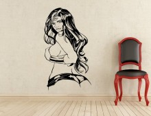 New arrival Creative DIY wall art home decoration Wonder Woman Wall Decal Superhero Vinyl Comics Art living room stickers