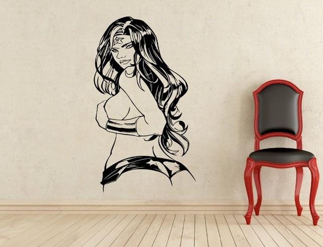 New Arrival Creative DIY Wall Art Home Decoration Wonder Woman - Superhero vinyl wall decals
