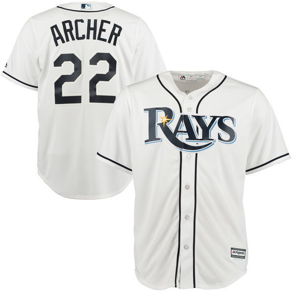 MLB Mens Tampa Bay Rays Chris Archer BaseballWhite Home Cool Base Player Jersey