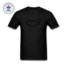 Christian T-Shirt  Fish Christianity Symbol