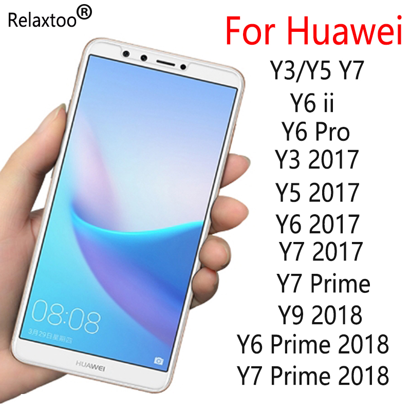 Protective <font><b>glass</b></font> for <font><b>huawei</b></font> y7 <font><b>prime</b></font> <font><b>2018</b></font> honor y3 y5 y6 ii pro 2017 y9 <font><b>y</b></font> 3 5 <font><b>6</b></font> 7 9 on screen protector <font><b>tempered</b></font> glas film 9h image