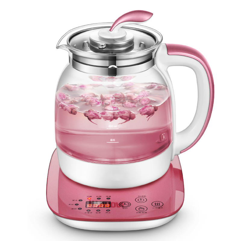 Electric kettle Fully automatic and thickened glass multi-function multi-functional cooking for teapot flower teapo цена