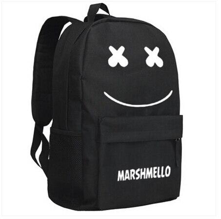 New marshmello Backpack Cartoon Bag DJ Alone Luminous Anime Oxford Schoolbag diabolik lovers anime backpack comic shoulder luminous bag new wtag