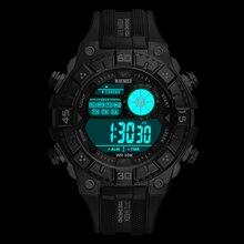 WAKNOER Military LED Watches Waterproof Sport Watch Men Watch Multifunction Fashion Men's Watch Clock Saat Relogio Masculino