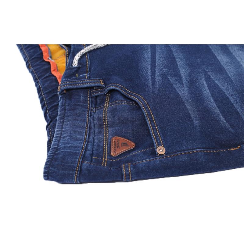 размеры большой размер 4xl формы 5xl плюс кашемир мужские джинсовые штаны кулиской Fit деним сталкивателем мужские повседневные байкерские джинсы эластичные джинсы