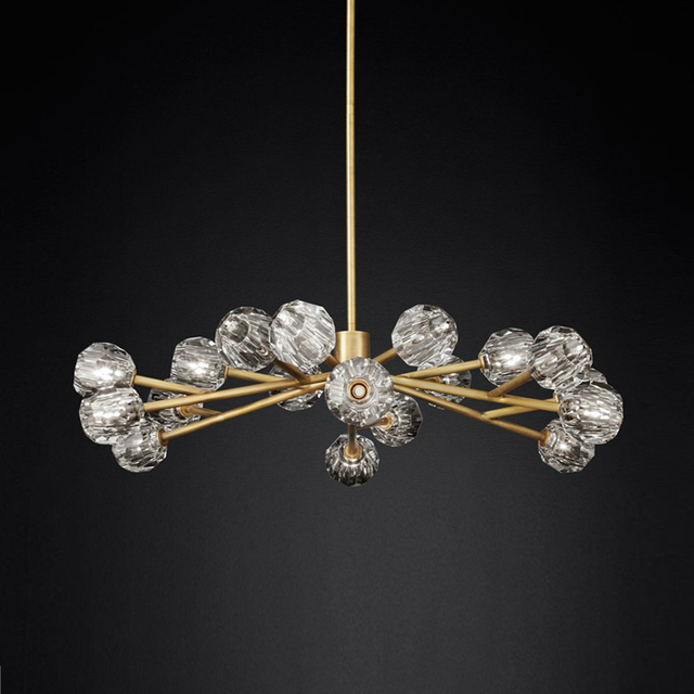 Livewin Modern Crystal LED Pendant Light 1.2-1.8m Luxurious Crystal Pendant Lighting Dining Room Hanging Lamps Lustres Pendentes