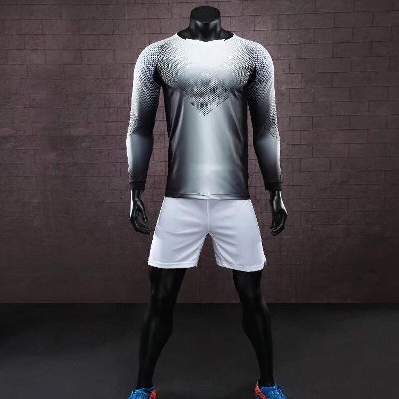 Survetement Football 2018 2019 Soccer Jerseys Men Custom Football Jerseys Long Sleeve Goalkeeper Uniforms Men Football Set Suit