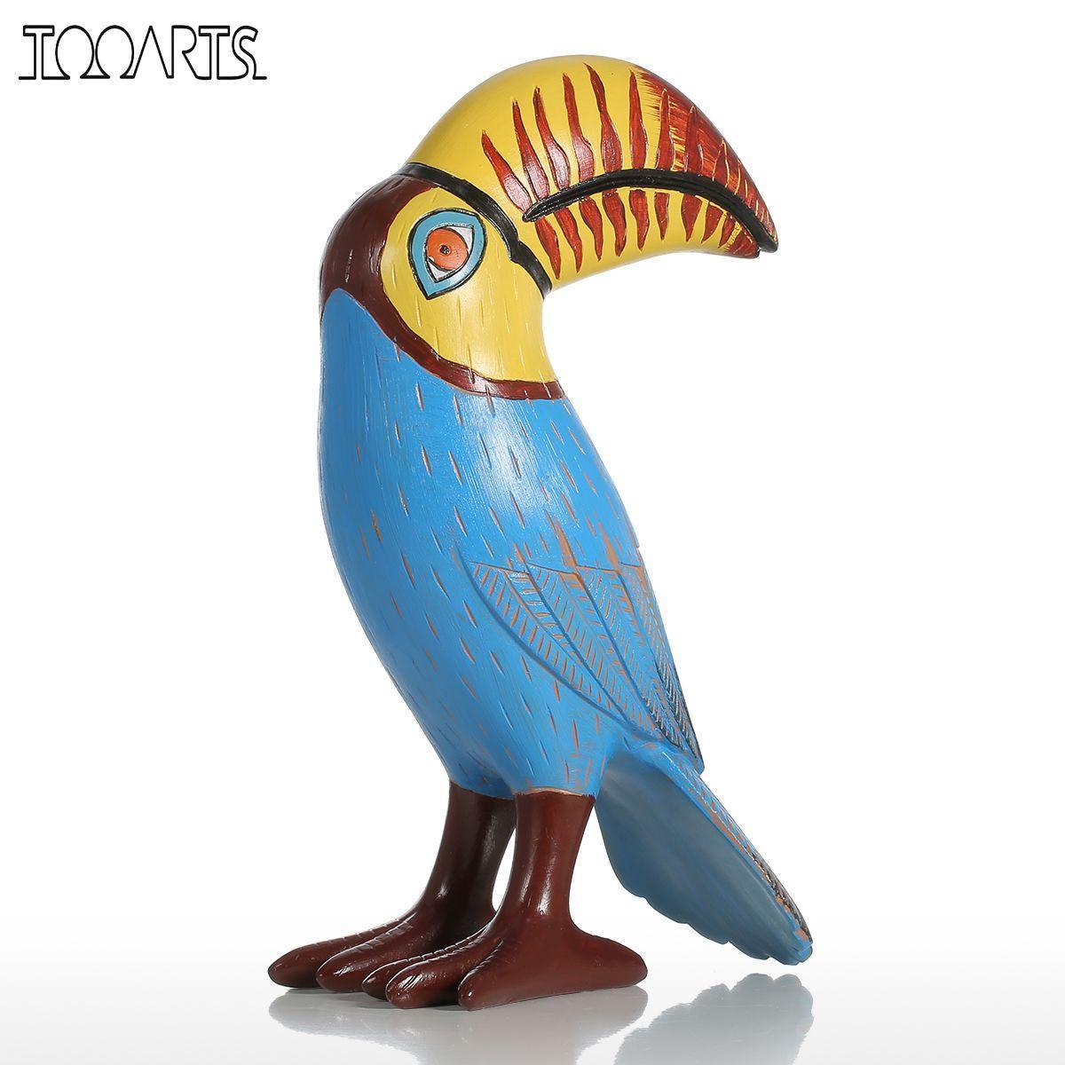 Save Big Bird >> Tooarts Big Mouth Toucan Bird Resin Sculpture Fiberglass Ornament Indoor Decor Statue Figurine ...
