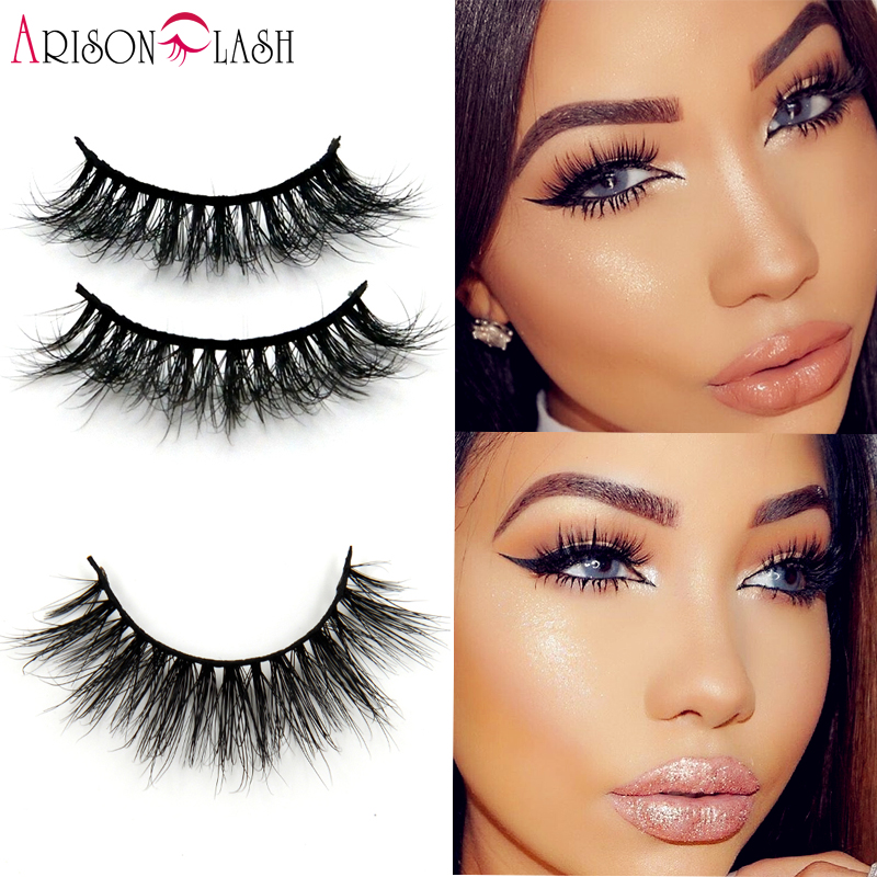 7932acc305c 1/ps 3D Mink False Eyelashes 100% Real Mink fur Handmade Crossing Lashes  Natural Long D006 Full Strip Lashes Thick Arison Lashes