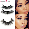 1/ps 3D Mink False Eyelashes 100% Real Mink fur Handmade Crossing Lashes Natural Long D006 Full Strip Lashes Thick Arison Lashes