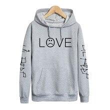 Pkorli Lil Peep LOVE Sweatshirt Men Women Casual Pullover Hip Hop Lil Peep Rapper Hoodies Sad Face Boys Hoody