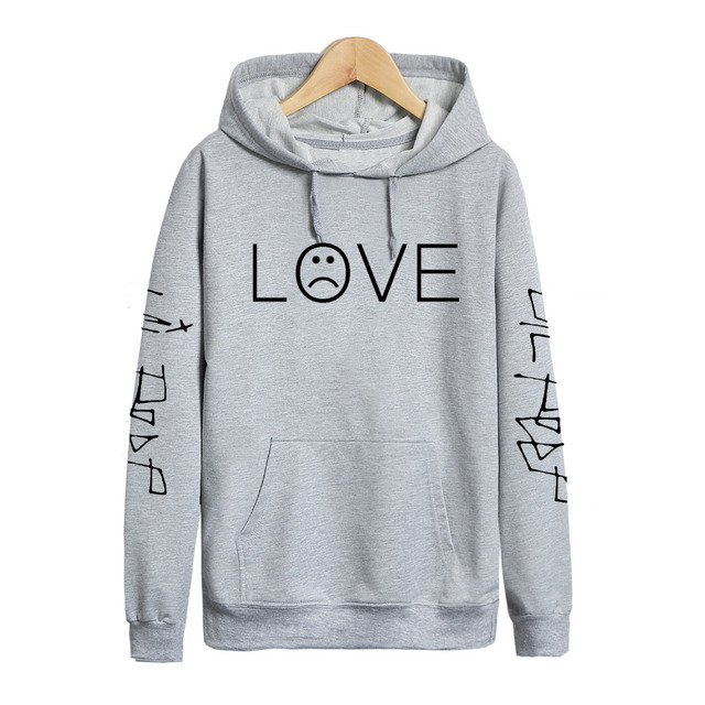 Pkorli Lil Peep LOVE Sweatshirt Men Women Casual Pullover Hip Hop Lil Peep Rapper Hoodies Sad Face Boys Hoody