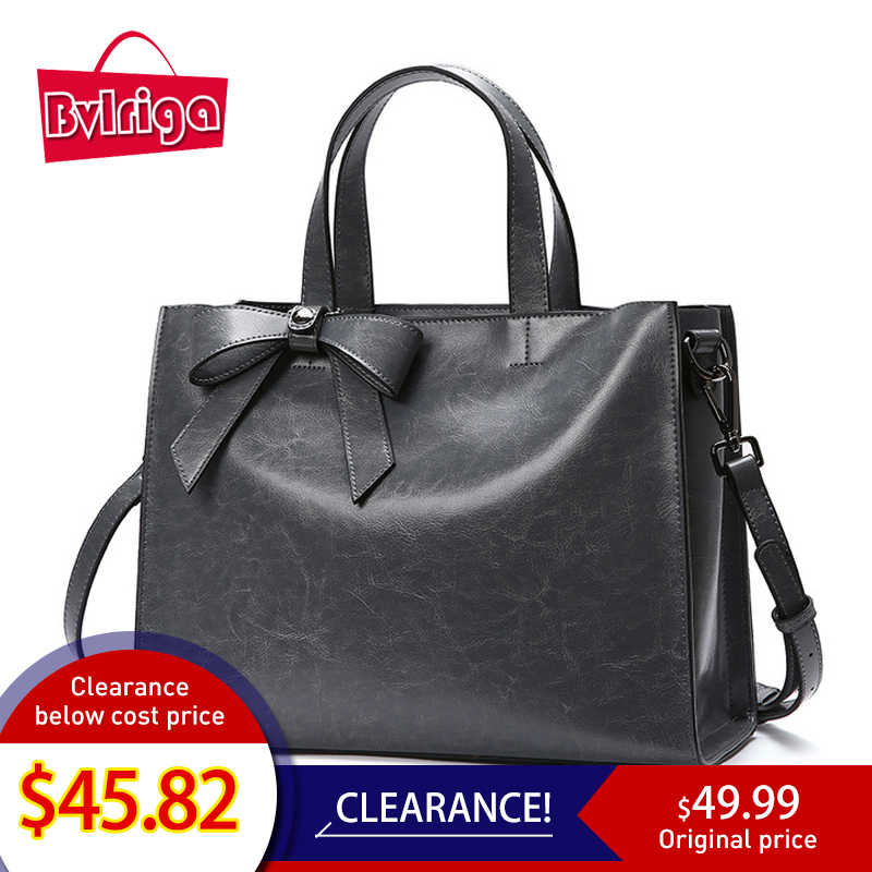 39ab6fb2ea88 BVLRIGA Натуральная кожа Сумка-тоут женская сумка на плечо 2019 женские  сумки с бантом роскошные