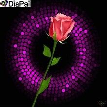 DiaPai Diamond Painting 5D DIY 100% Full Square/Round Drill Rose flower sceneryDiamond Embroidery Cross Stitch 3D Decor A24246 diapai 100% full square round drill 5d diy diamond painting flower landscape diamond embroidery cross stitch 3d decor a21095