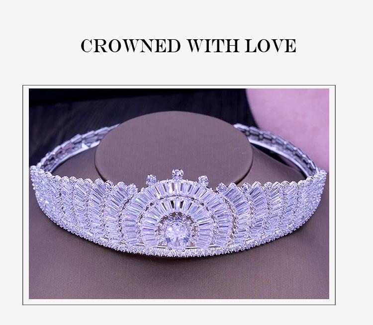 Роскошные тиары с кубическим цирконием ААА короны для свадьбы