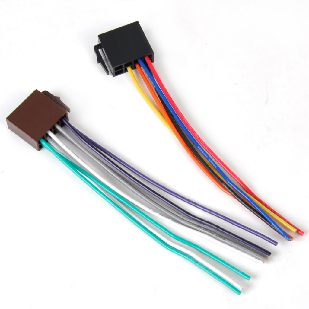 2018 New Universal Iso Wire Harness Female Adapter Connector Cable Wiring Plug Item Specifics