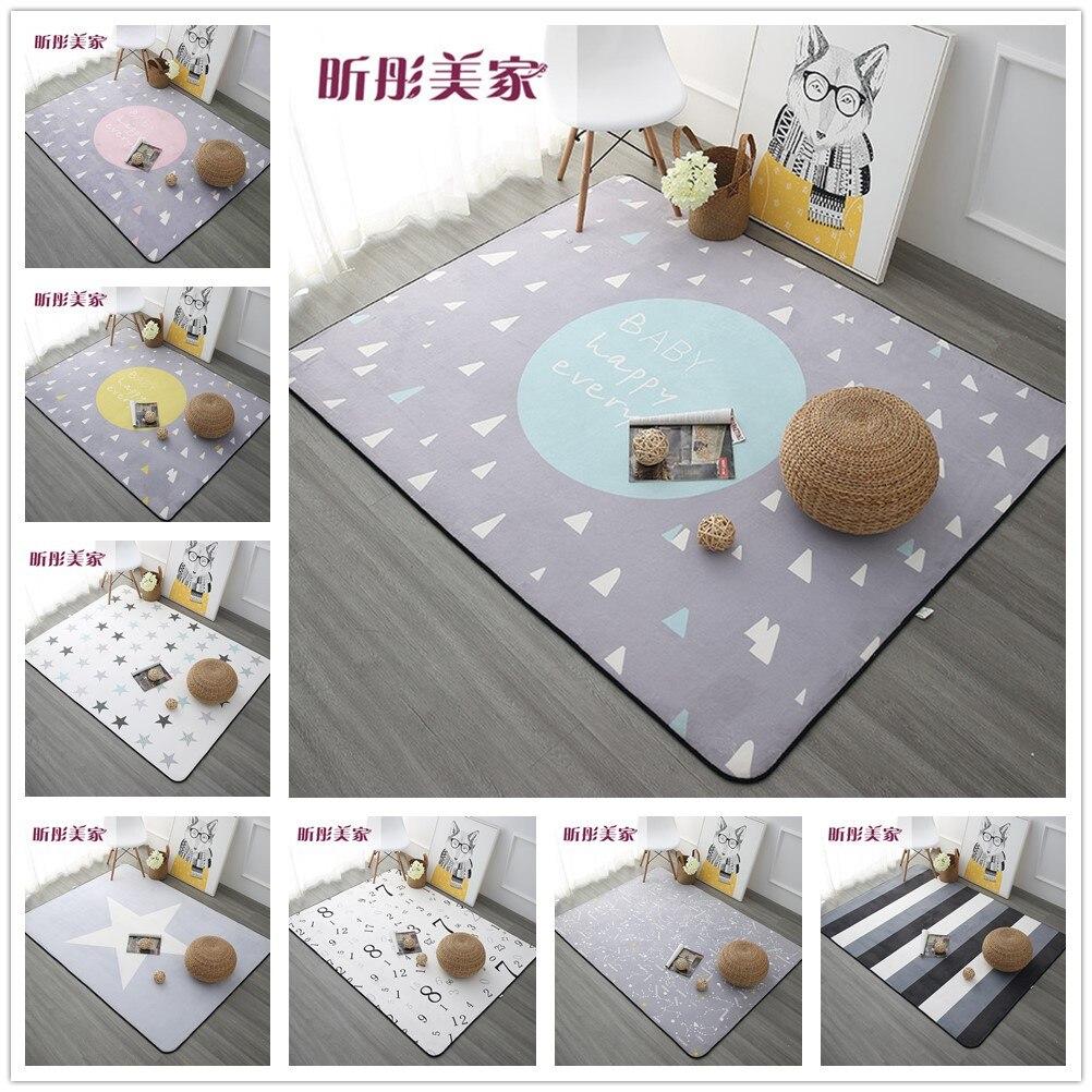 120X180 CM tapis de Style nordique pour salon maison chambre tapis et tapis Table basse brève zone tapis enfants jouer tapis
