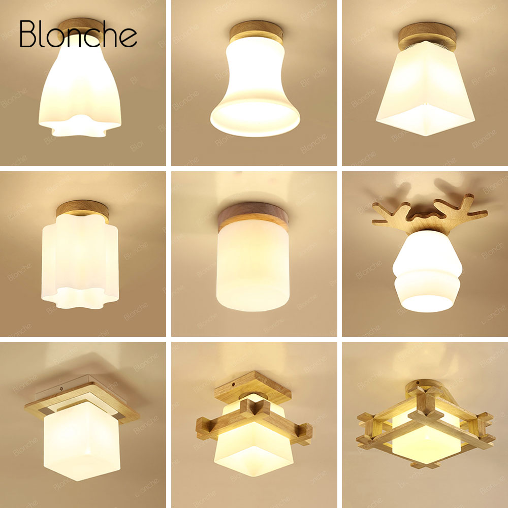 Modern Ceiling Light Nordic Ceiling Lamp for Living Room Kitchen Bathroom Bedroom Lighting Fixtures Glass Wood Home LED LampModern Ceiling Light Nordic Ceiling Lamp for Living Room Kitchen Bathroom Bedroom Lighting Fixtures Glass Wood Home LED Lamp
