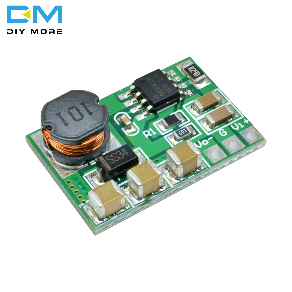 Diymore Positive To Negative Step Up/Down Buck Boost Converter Module 3V~15V to -3.3V -5V -6V -9V -12V -15V Without Pin Board image
