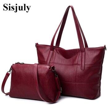 Tethys Big Leather Bag Women handbags Plaid Crossbody for Women Shoulder bags High Quality Tote Soft Female Messenger Bag Sac grande bolsas femininas de couro