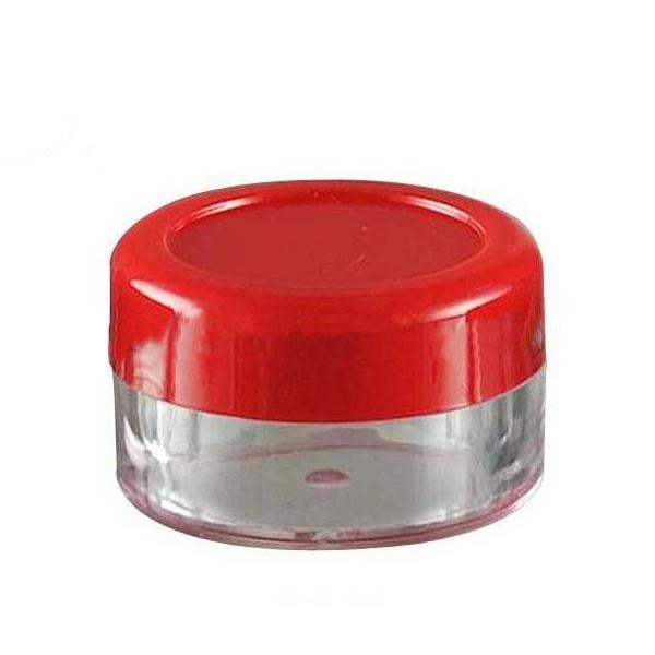 10 pièces 5g pots de Crème Vides couvercle rouge palette de fard à paupières De Maquillage rechargeable Mini Petit échantillon Boîtes D'emballage Cosmétique Conteneur