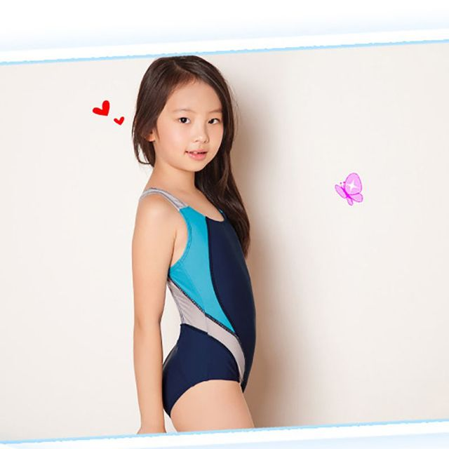 Bambini ragazze costume da bagno Swimmer infantil costumi da bagno ...