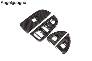 Image 2 - 4 pcs Carbon Fiber Style ABS Car Window Lift Switch Button Frame Cover Trim For Alfa Romeo Giulia 2017 2019 LHD