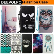 DEEVOLPO Painted Case For Samsung Galaxy J5 J7 J3 2017 2016 2015 Prime SM J730 J530 Leather Silicone Holder Wallet Cover DP23Z