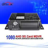 Auto AHD Car Mobile DVR 4CH Video/Audio Input H.264 SD Card Mdvr Cycle Recording Motion Detection IR Remote Controller Encrption